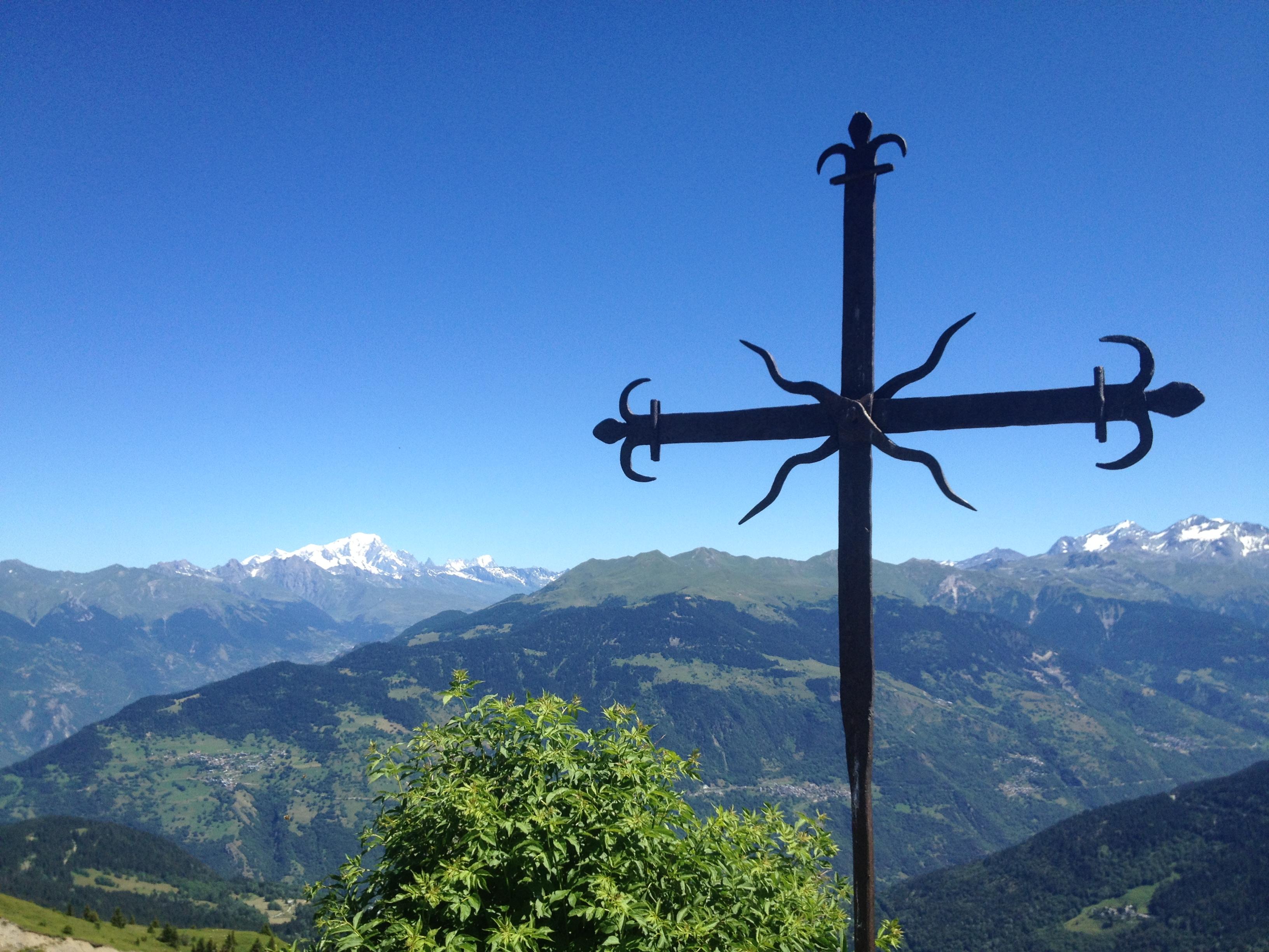La Croix Jean Claude, 1000 meter boven Les Allues