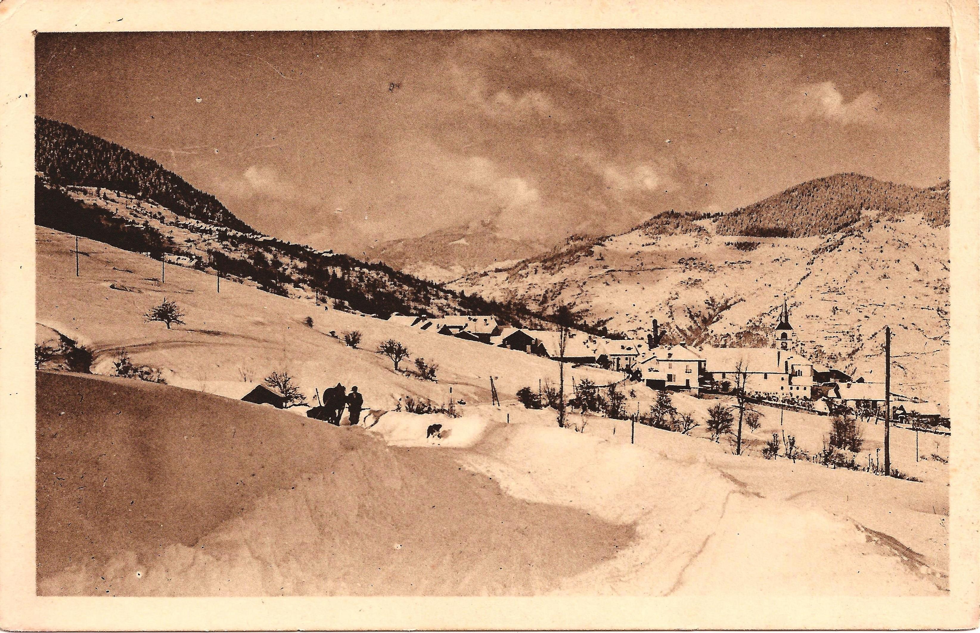 De weg van Les Allues naar Méribel in 1945