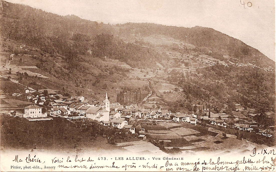 Onze oudste ansichtkaart van Les Allues uit 1902.